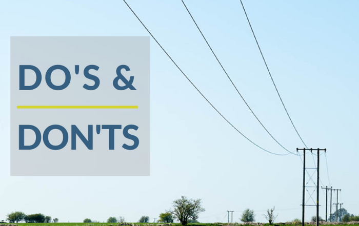 Do's and Don'ts of grid connection