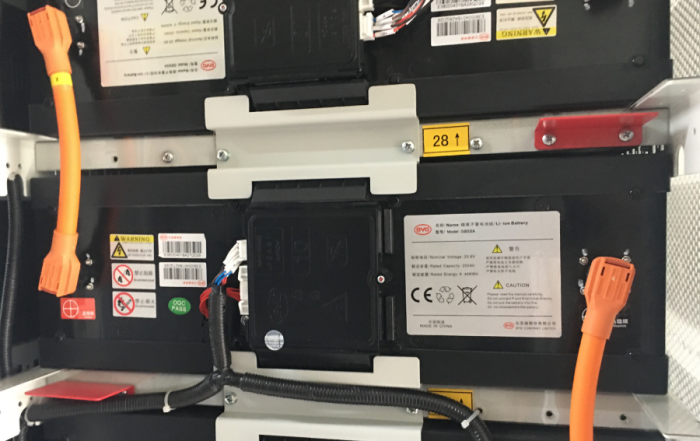 inside a battery storage unit