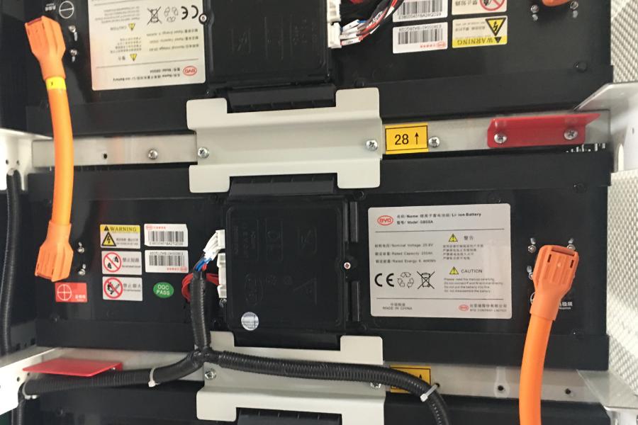 inside a battery storage unit