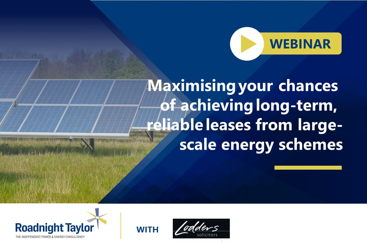 Webinar: Maximising chances of achieving large-scale energy schemes